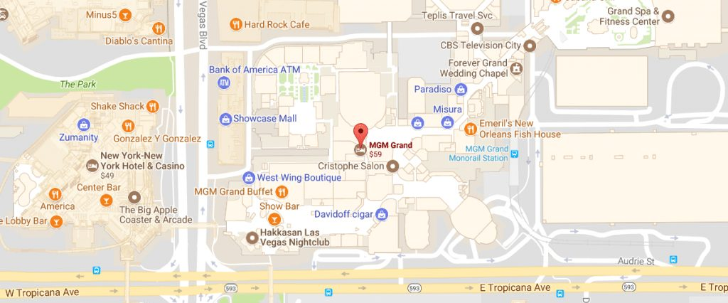 Directions to MGM Grand Vegas