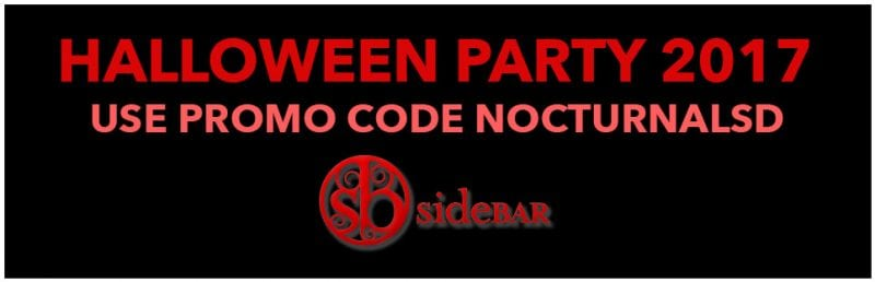 Sidebar Gaslamp Halloween Party San Diego Discount Ticket Promo Code 2017