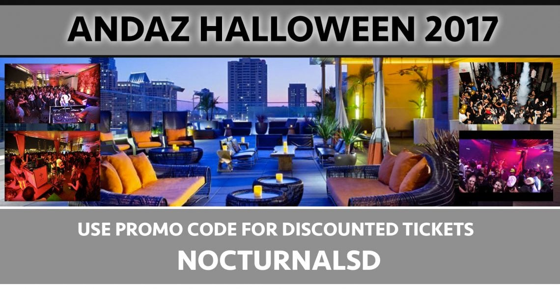 Andaz Halloween Party 2017 Discount Promo Code Tickets San Diego
