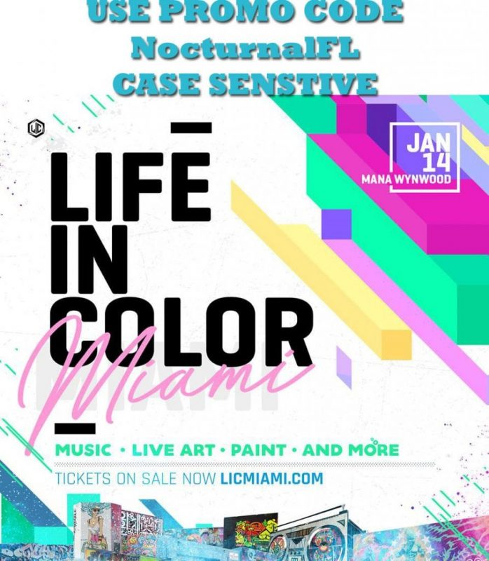 Life In Color 2018 Discount Promo Code Miami florida lineup coupon day one day 2 pass lic