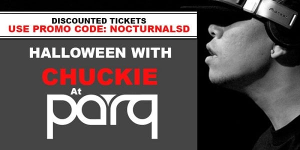 Parq Halloween Party 2017 Discount Promo Code Tickets San Diego DJ Chuckie