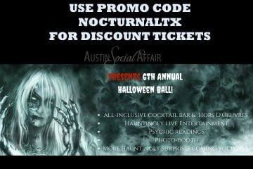 Austin Social Affair IronWood HALLOWEEN BALL DISCOUNT TICKET PROMO CODES 2017 VIP PHASE 1 PHASE 2 PROMOTIONAL CODE COUPON GUEST LIST HALL DOWNTOWN