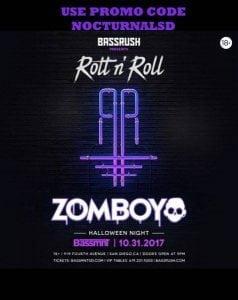 BASSMNT HALLOWEEN 2017 DISCOUNT TICKETS PROMO CODE SAN DIEGO DANCE NIGHTCLUB EDM DJ TRAP EDM