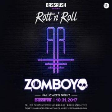 BASSMNT HALLOWEEN 2017 DISCOUNT TICKETS PROMO CODE ZOMBOY SAN DIEGO ZOMBOY EDM DANCE DUBSTEP TRAP
