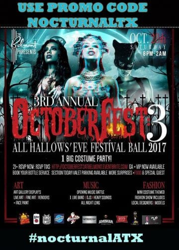 Belmont October Fest 3 Halloween DISCOUNT TICKETS PROMO CODE vip atx costume party