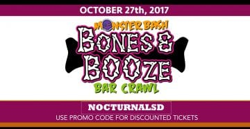 Bones And Booze BarCrawl 2017 DISCOUNT PROMO CODE TICKETS San Diego vip parking east village meet up coupon