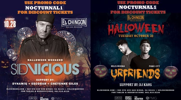 El Chingon Halloween San Diego Gaslamp DISCOUNT PROMO CODE 2017 COSTUME PARTY VIP GUEST LIST EVENT 21+ BEST TOP THINGS TO DO FOR HALLOWEEN