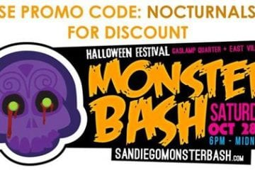 Monster Bash 2017 Halloween Gaslamp DISCOUNT PROMO CODE San Diego gaslamp downtown bar crawl bones and booze