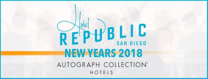 New Years Party 2018 Hotel Republic San Diego Promo Discount Tickets