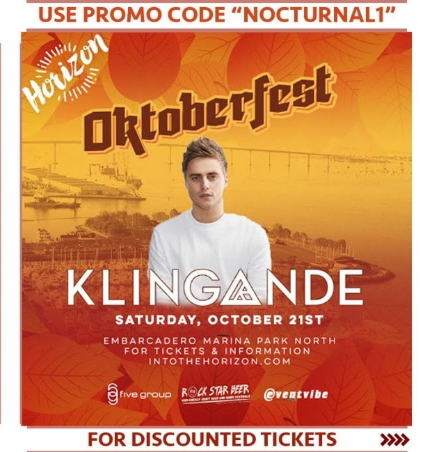 Oktoberfest 2017 Horizon Tickets Discount Promo Code San Diego Klingande carnival music festival craft beer into the horizon event beach festival