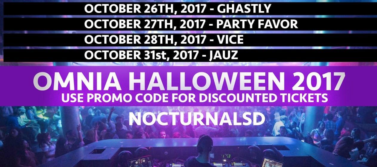 Omnia halloween 2017 Discount Tickets Promo Code San Diego