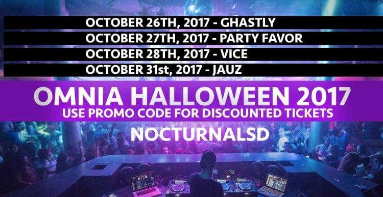 Omnia Halloween Party 2017 Discount Promo Codes San Diego