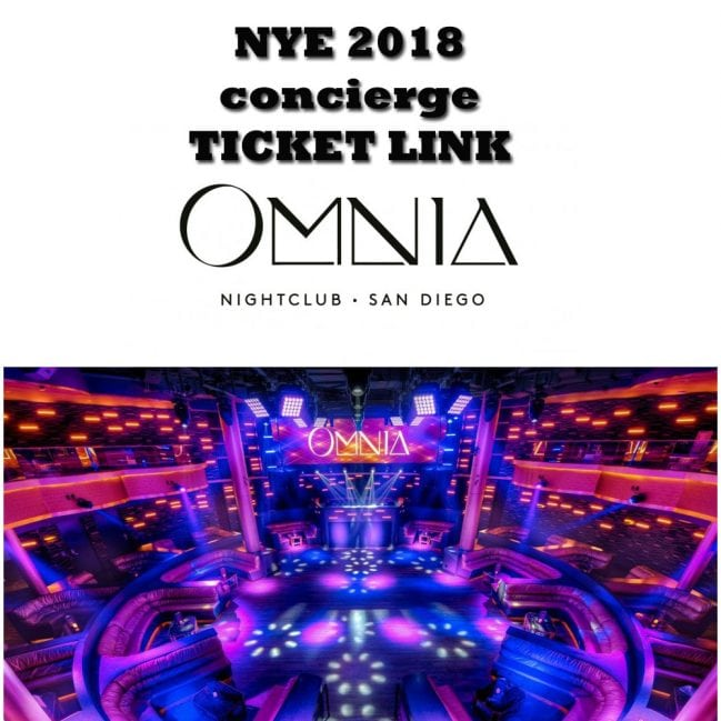 Omnia San Diego NYE 2018 Discount Promo Code Tickets VIP guest list table bottle service pricing party gaslmp