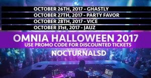 Omnia halloween 2017 Discount Tickets Promo Code San Diego edm dance rave party costume dress up event venue