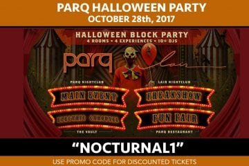 Parq Halloween The It Party Tickets Discount Promo Code 2017 San Diego Nightclub bar gaslamp downtown top biggest halloween party event of the year