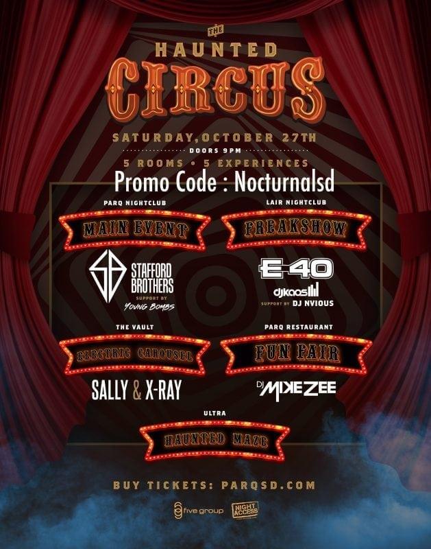 Parq night club halloween 2018 promotional code discount e40