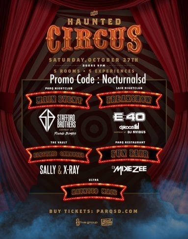 Parq night club halloween 2018 promotional code discount e40