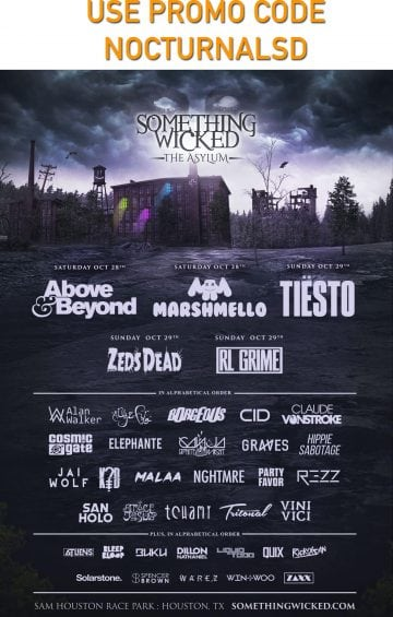 Something Wicked 2017 Tickets Discount Promo Code Halloween Houston tiesto above and beyond vip entry halloween sowi2017