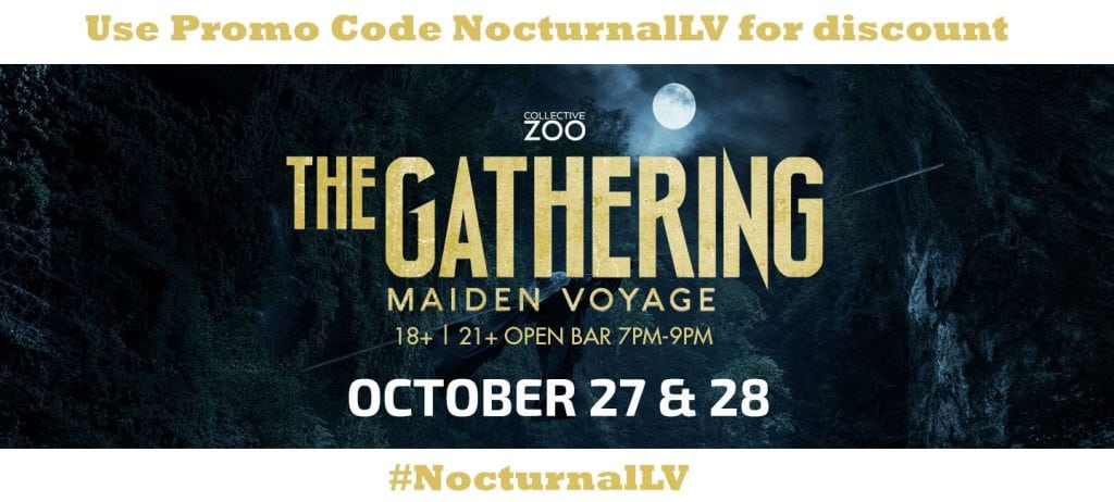 The Gathering Vegas 2017 Halloween DISCOUNT PROMO CODE Collective Zoo coupons guest list maiden voyage halloween