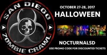 Zombie Crawl 2017 San Diego TICKETS DISCOUNT PROMO CODE Gaslamp sdzc bar crawl pub crawl gaslamp halloween