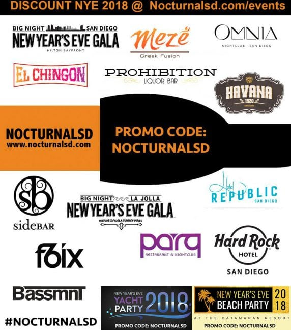 san diego nye 2018 events clubs parties hotel gaslamp la jolla vavi vip tickets passes discount promotional code coupon guest list bottle table nightlife
