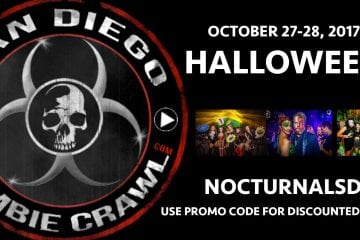 san diego zombie crawl 2017 gaslamp bones and booze bar crawl discount promo code coupon vip entry clubs venues nightclubs add ons east village