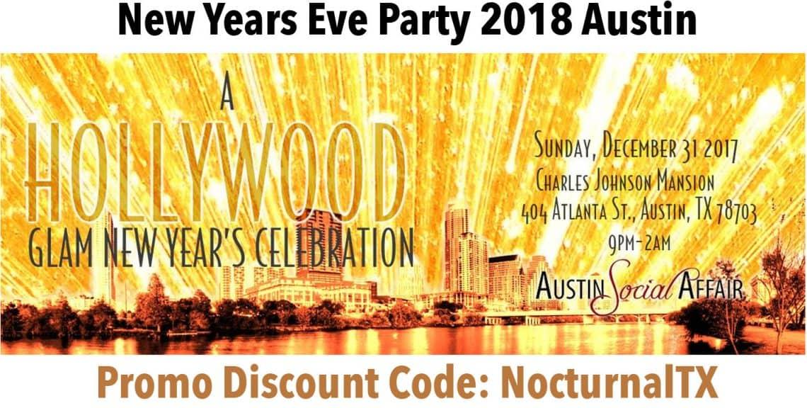 Austin Social Affair NYE 2018 Discount Promo Code TicketsHollywood Glam