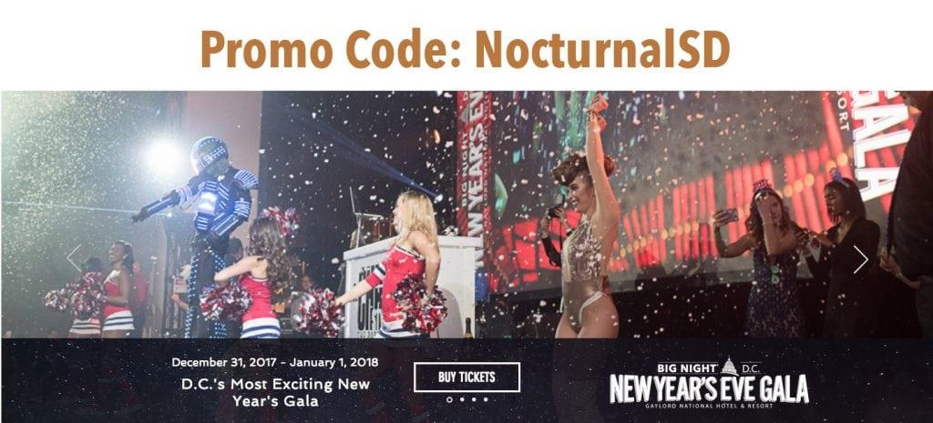 Big Night NYE Washington DC 2018 Discount Promo Code Tickets Gala