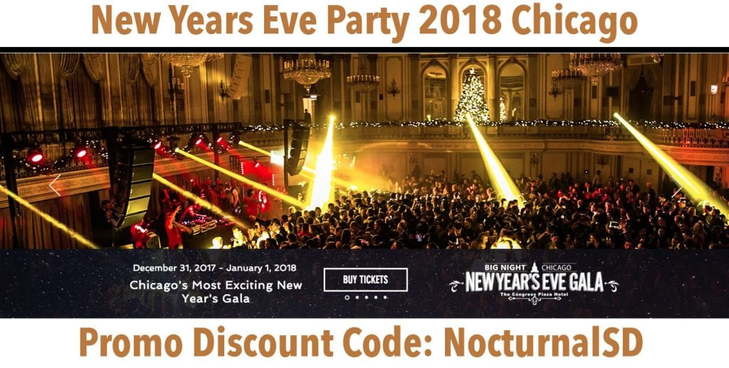 Big Night New Years Eve Gala 2018 Discount Promo Code Tickets Chicago