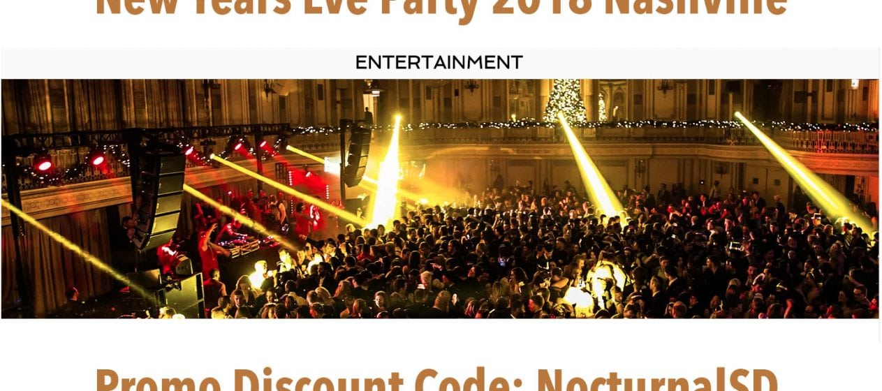 Big Night NYE Nashville 2018 Discount Promo Code Tickets Gala