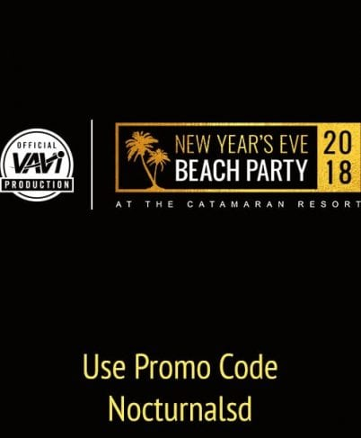 NYE Beach Party 2018 Catamaran Discount Promo Code Tickets San Diego vavi sports mission beach pacific beach new years eve vip cruise boat bar club