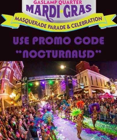 San Diego Mardi Gras DISCOUNT PROMO CODE Block Party Gaslamp Tickets, vip parking, voodoo lounge, bars, club crawl, fat tuesday parade, gaslamp downtown san diego events