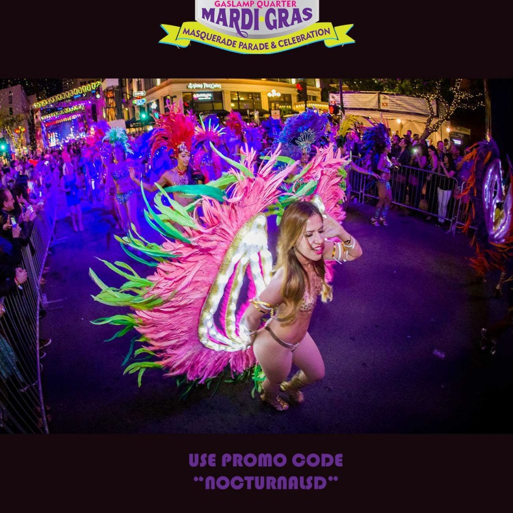 san diego fat tuesday parade 2018 mardi gras tickets discount promotional code vip coupon parking lineup phat topless dancers show girls