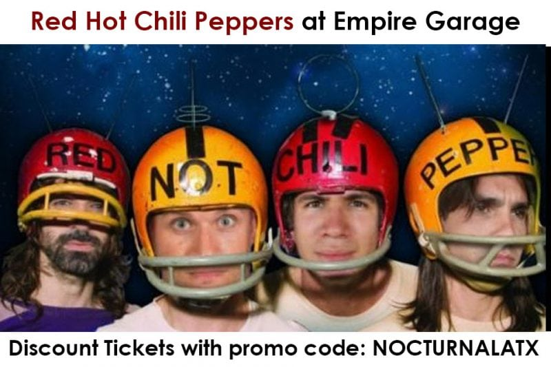 Empire Garage Red Hot Chili Peppers Ticket Promo Code Austin 2017