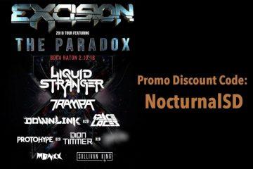 Excision 2018 Tour Paradox Promo Discount Code Boca Raton