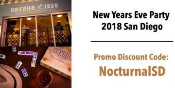 Gaslamp NYE 2018 Havana 1920 Discount Promo Code Tickets San Diego