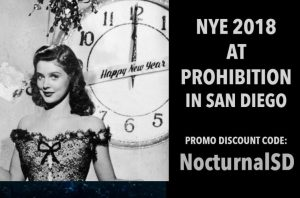 Prohibition NYE 2018 Discount Promo Code Tickets San Diego