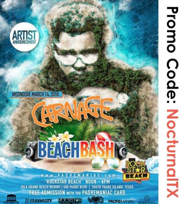Carnage Beach Bash South Padre 2018