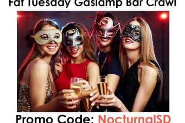 Fat Tuesday Masquerade Promo Code San Diego Downtown Gaslamp Discount