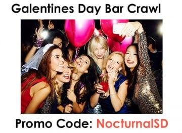 Galentine's Day Cupid Bar Crawl 2018 Promo Discount Code San Diego