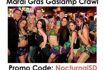 Gaslamp Mardi Gras Crawl 2018 Promo Code Tickets San Diego Discount