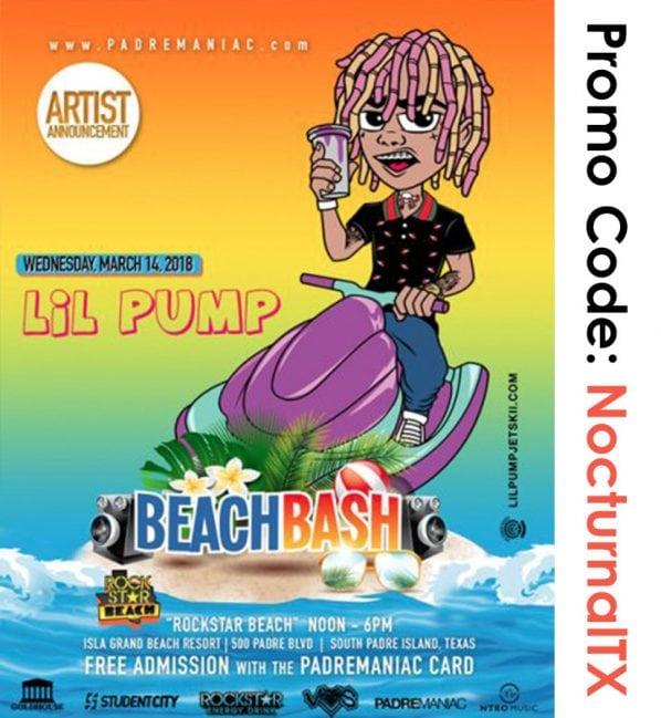 Lil Pump Beach Bash South Padre 2018