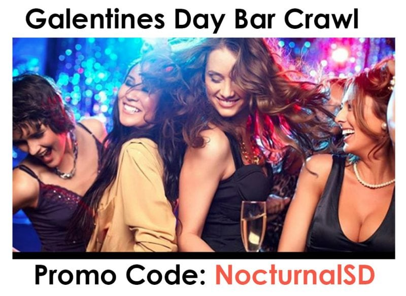 San Diego Valentines Day Bar Crawl