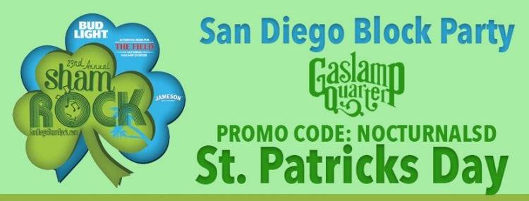 Shamrock 2018 Promo Code Nocturnalsd Gaslamp St Patricks Day San Diego Discount Tickets