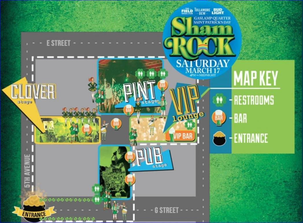 Shamrock 2019 Promo Code Gaslamp San Diego St Patricks Day Discount