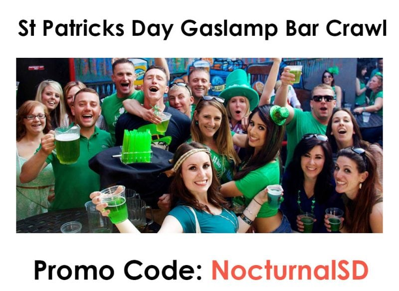 St Patricks Day Bar Crawl 2018 Promo Code San Diego Discount