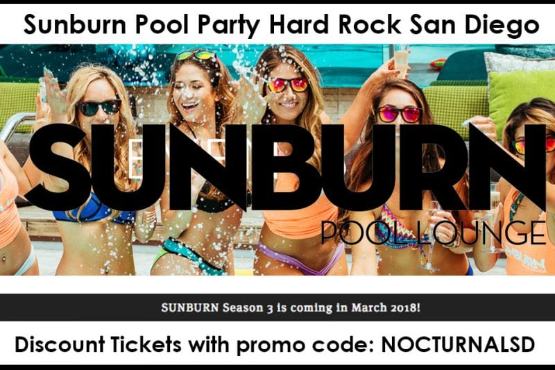 Sunburn Pool Party 2018 Hard Rock Discount Promo Tickets San Diego