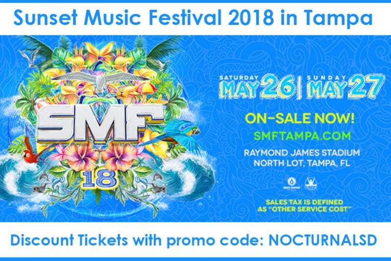 Sunset Music Festival 2018 Discount Promo Tickets Tampa