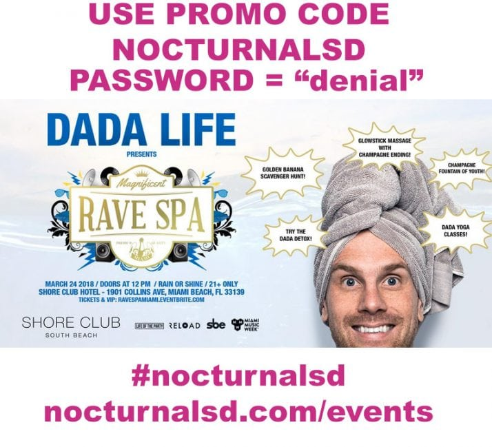 Dada Life Magnificent Rave Spa PROMO CODE