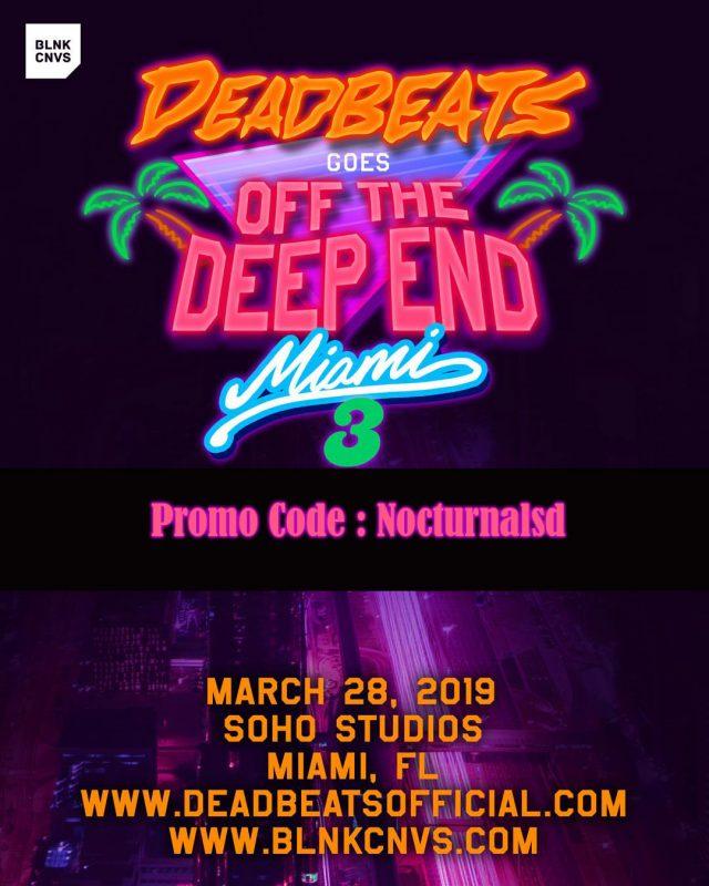 deadbeat miami 2019 promo code discount tickets
